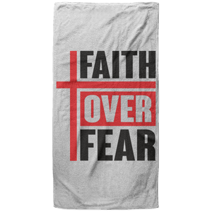 Faith Over Fear Christian Oversized Beach Towel - 37x74