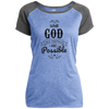 With God Christian Ladies Performance T-Shirt