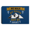 We Walk By Faith Christian Landscape Canvas .75in Frame