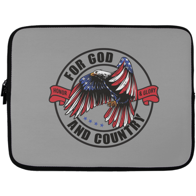 For God & Country Christian Laptop Sleeve - 13 inch