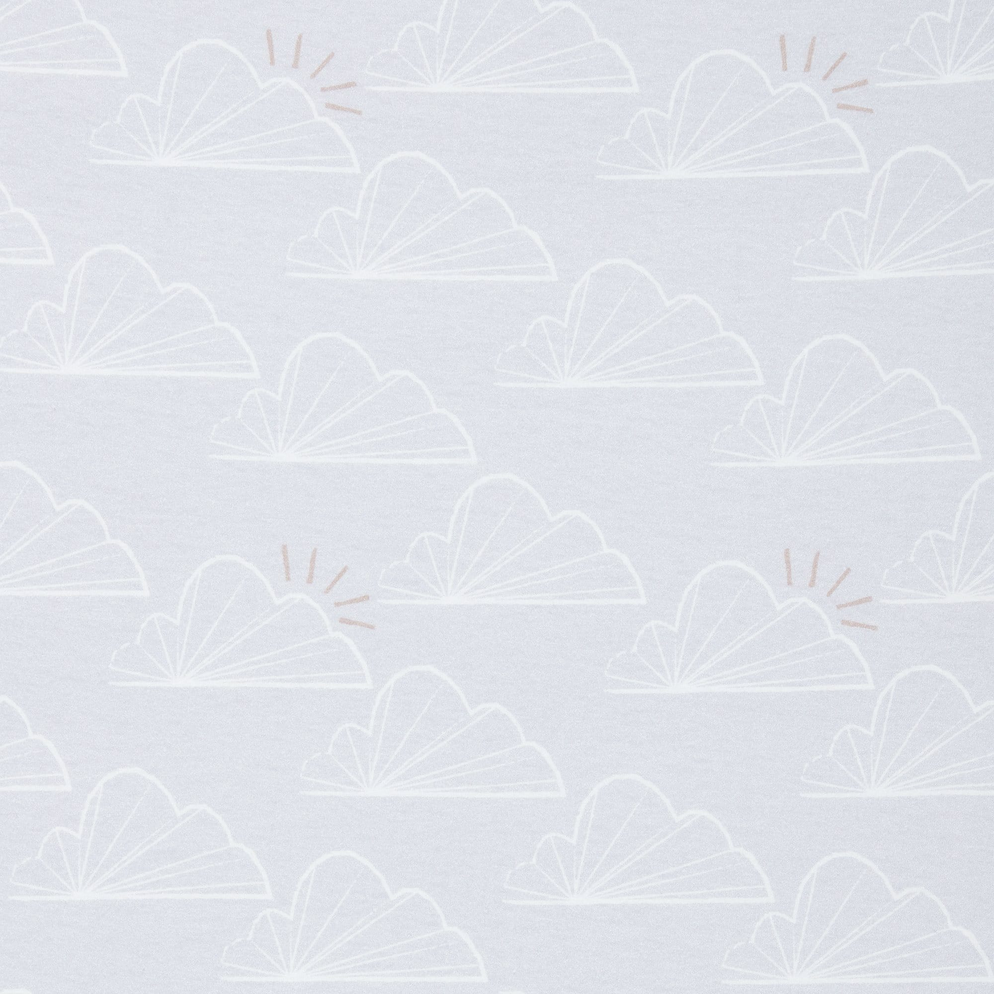 Crib Bedding Set - Grey Clouds