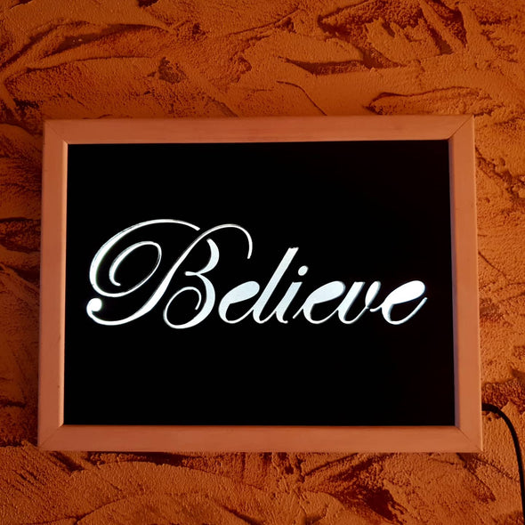 "Led ""Believe"" Sign"