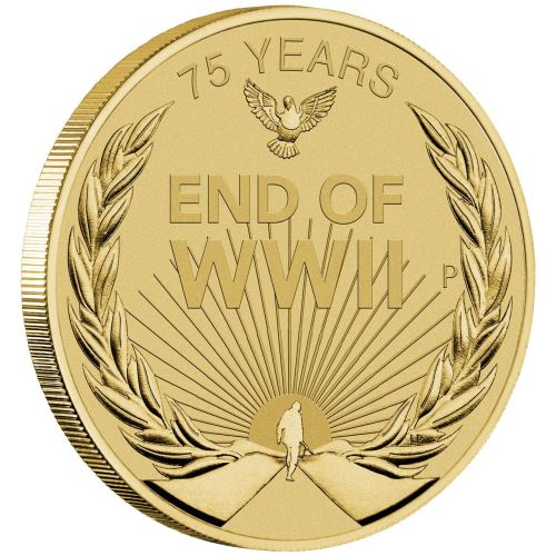 2020-P End of WWII 75th Anniversary $1 Coin MS68
