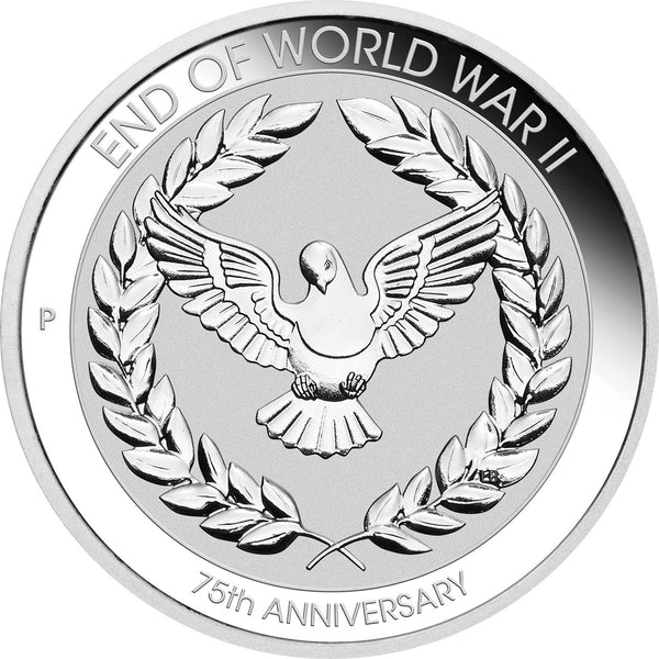 2020-P End of WWII 75th Anniversary Silver 10c MS69