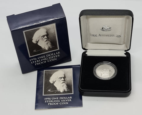 1996 Henry Parkes $1 Silver Proof