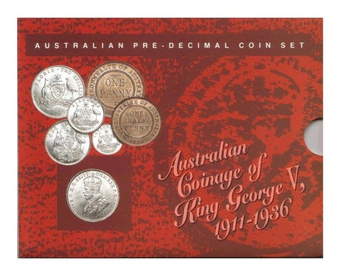 Australian Pre-Decimal Coin Set 1911 - 1936 King George V Mint Set