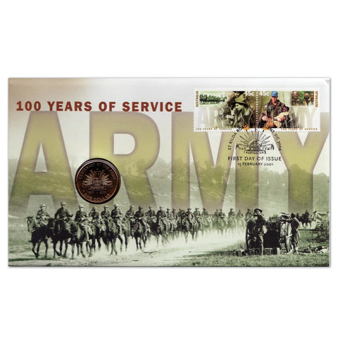 2001 PNC 100 Years of the Army $1 PNC ('C' Mintmark Coin)