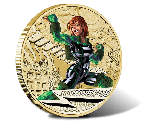 2014 Super Heroes 'Superstrength' $1 Coin MS69 (Top Pop)