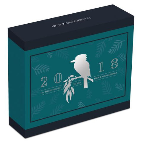2018 Australian Kookaburra 1oz Silver Proof High Relief Coin