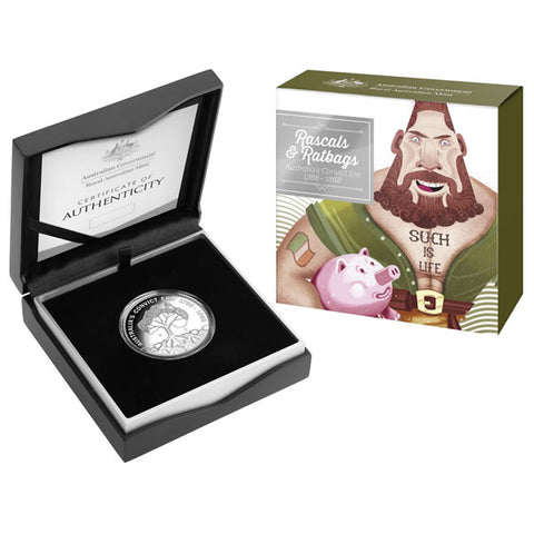 2018 Ratbags & Rascals $1 'C' Mintmark Silver Proof Coin
