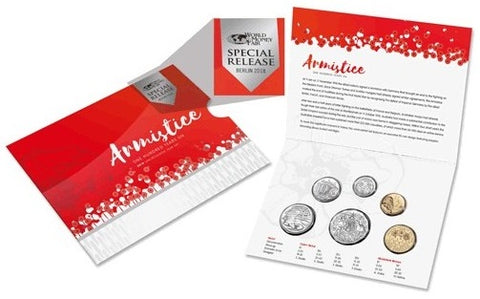 2018 6 Coin Mint Set - Armistice Centenary