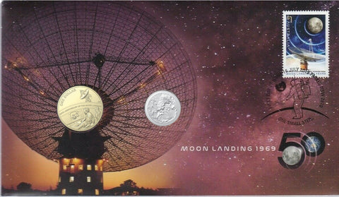 2019 50th Anniversary of the Moon Landing 2 Coin PNC