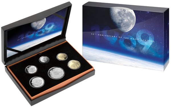 2019 50th Anniversary Of The Moon Landing 6 Coin Proof Set