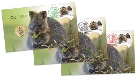 2021 Perth Stamp & Coin Show Quokka PNC full set for all 3 days