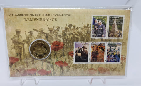 2008 90th Anniversary of the End of WWI Remembrance Day $1 PNC (Limited Edition)