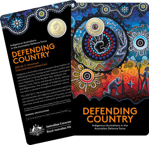 2021 Indigenous Services - Defending our Country $2 'C' Mintmark (Limit 1 Per Customer)
