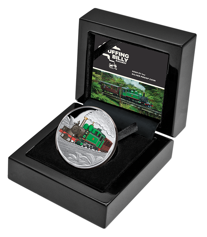 2020 Puffing Billy 1oz Silver $1 Proof