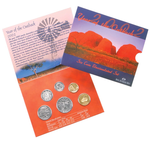 2002 Year of the Outback RAM 6 Coin Unc Set