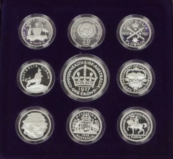 1998 Masterpieces in Silver 9 Coin Fine Silver Proof Set