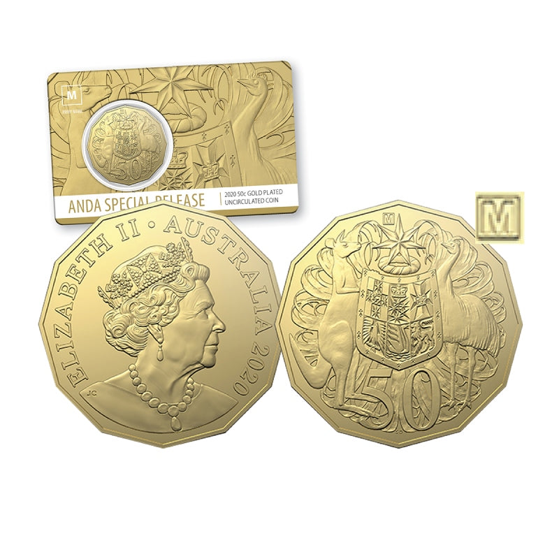 2020 ANDA 50c Gold Plated with M Privymark