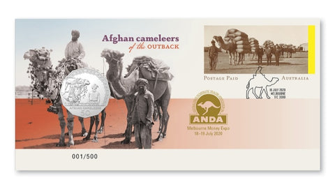 2020 Afghan Camaleers of the Outback 50c PNC - Melbourne ANDA Overprint