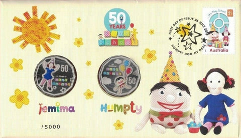 2016 Australia PNC 50 Years of Play School Jemima and Humpty 50c PNC