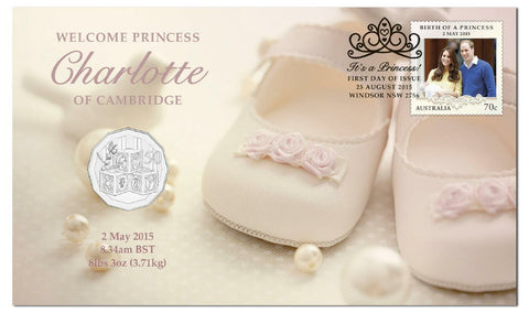 2015 Welcome Princess Charlotte of Cambridge 50c PNC