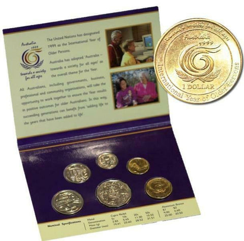 1999 International Year of Older Persons 6 Coin RAM Mint Set
