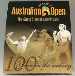 2005 100th Anniversary of the Australian Open Tennis Grand  Slam 1oz Silver Proof Coin