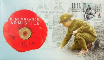 2018 Remembrance Day Armistice Centenary $2 C Mintmark Coin & Stamp Cover PNC