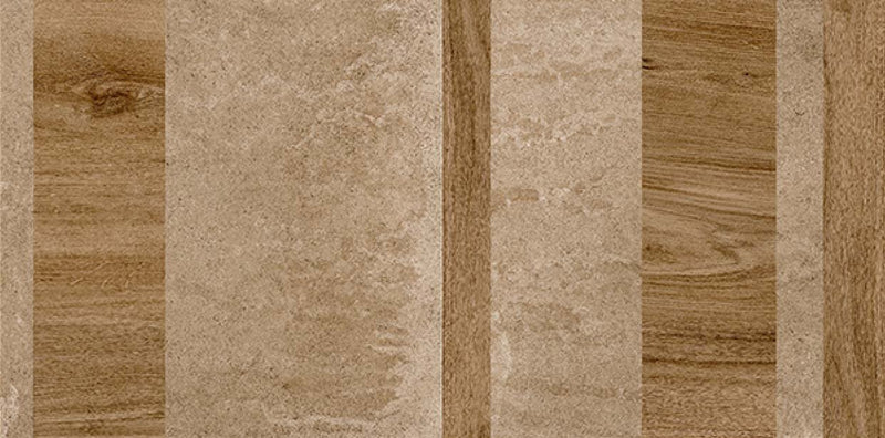 Maze Brown 40x80cm Porcelain Wall Tile (12804)