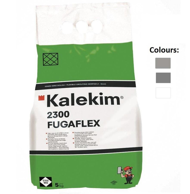 CG2 WA Kalekim Fugapool Flexible Grouting Mortar Additive Flex Tile Grout 1-6 mm (5 Kg) From £9.90 - Decoridea.co.uk