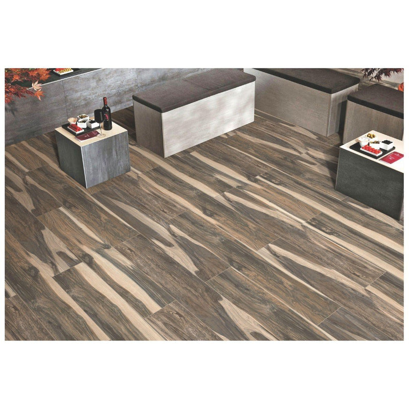 Coster Wood Copper 20x120cm Porcelain Wall and Floor Tile (Wood Collection)