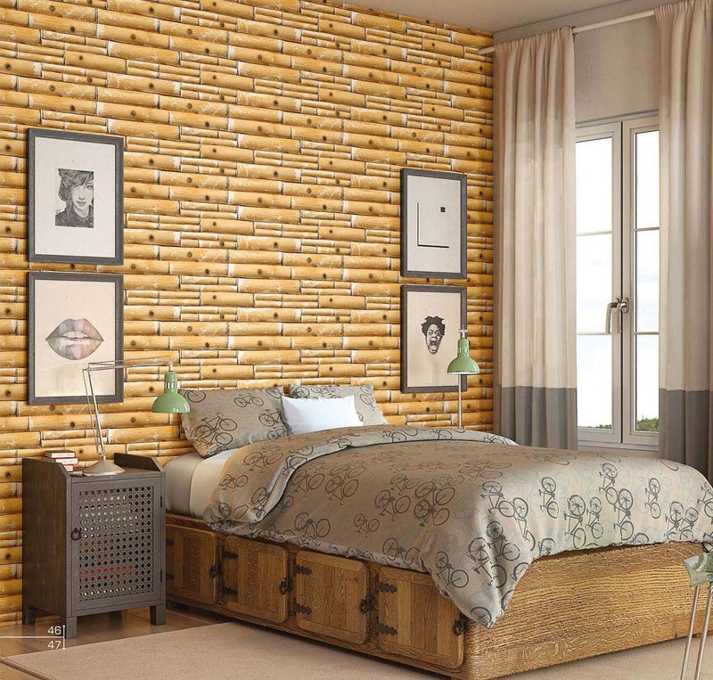 Elmo Yellow Bamboo 30x60cm Porcelain Wall Tile (Elevation Series)