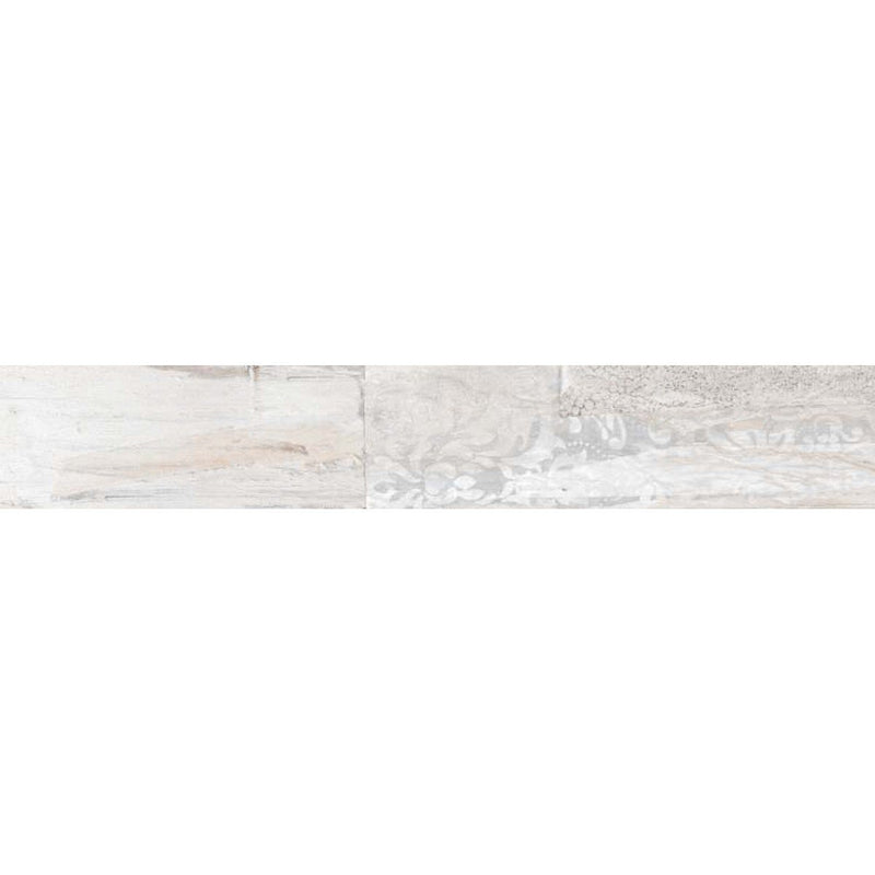 Europa White 20x120cm Porcelain Wall and Floor Tile (Wood Collection)