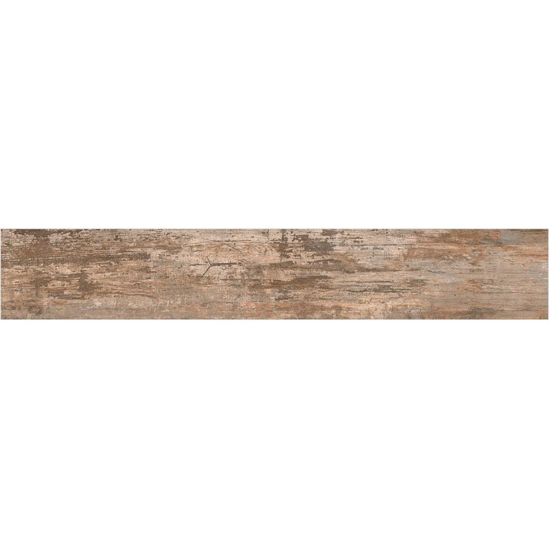 Iron Wood Rust 20x120cm Porcelain Wall and Floor Tile (Wood Collection)