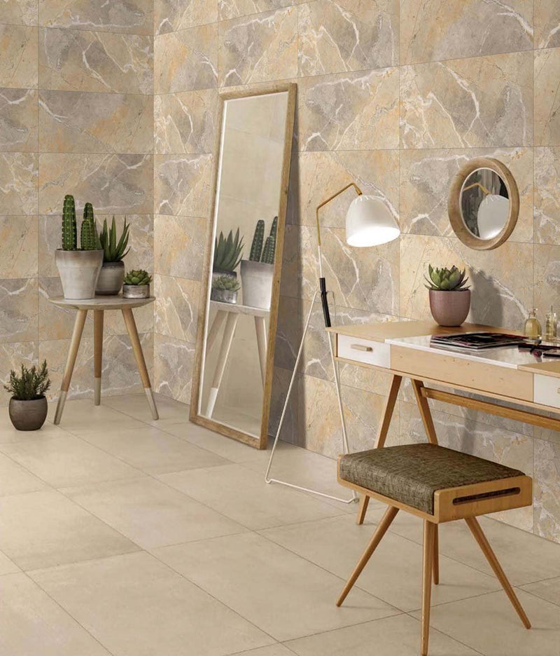 Luna Yellow 30x60cm Porcelain Wall and Floor Tile (GVT Series)