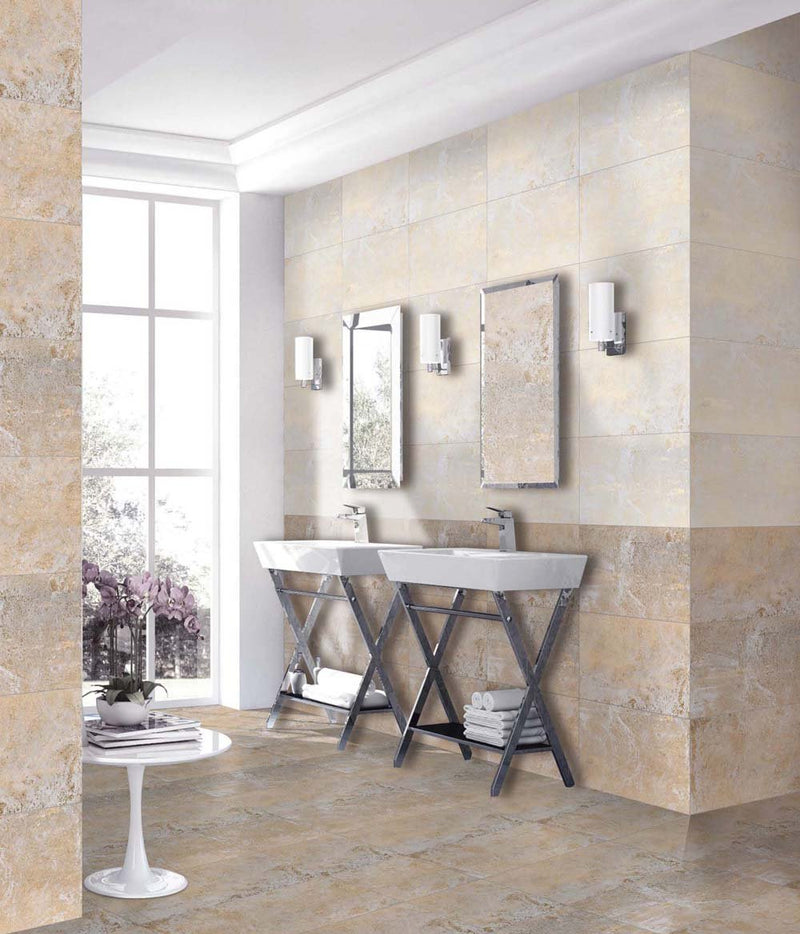 Metal White 30x60cm Porcelain Wall and Floor Tile (GVT Series)