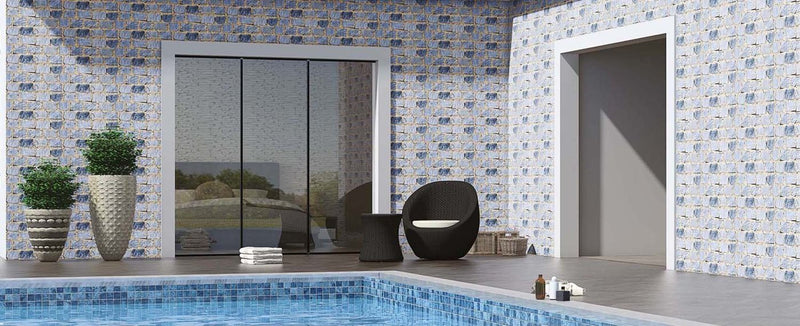 Mudstone Blue 30x60cm Porcelain Wall Tile (Elevation Series)