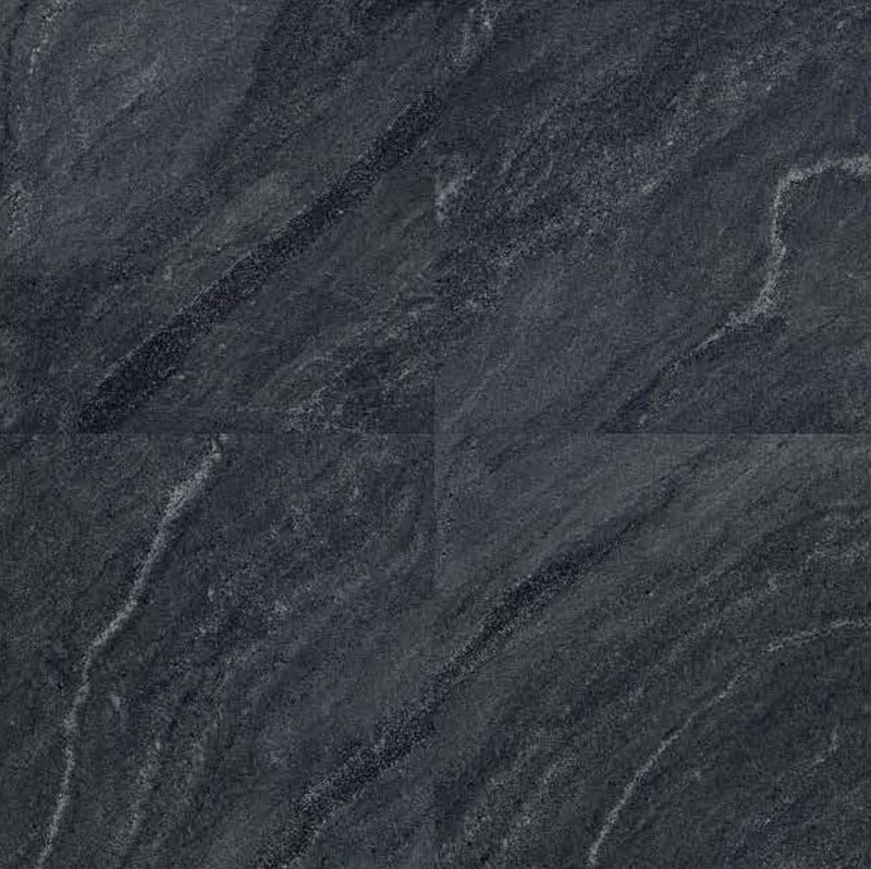 Phoenix Black 40x40cm Porcelain Floor Tile (Parking Series)