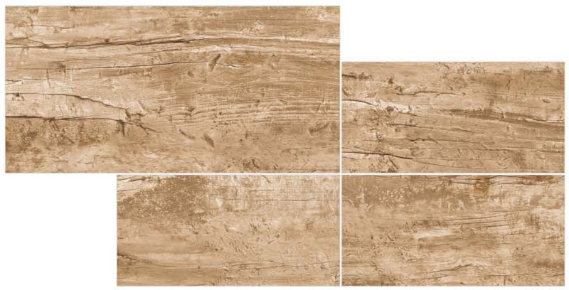 Rush Wood Yellow 30x60cm Porcelain Wall and Floor Tile (GVT Series)