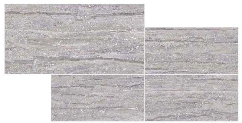 Travertino Black 30x60cm Porcelain Wall and Floor Tile (PGVT Series)