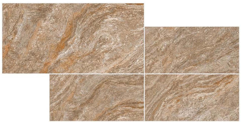 Tumbled Brown 30x60cm Porcelain Wall and Floor Tile (GVT Series)