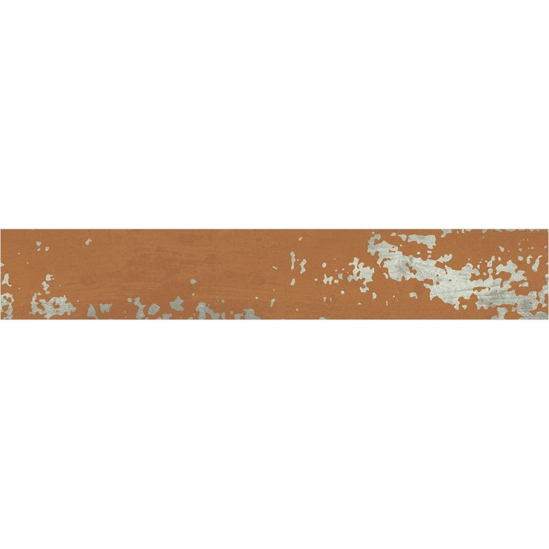 Vibrant Orange 20x120cm Porcelain Wall and Floor Tile (Wood Collection)