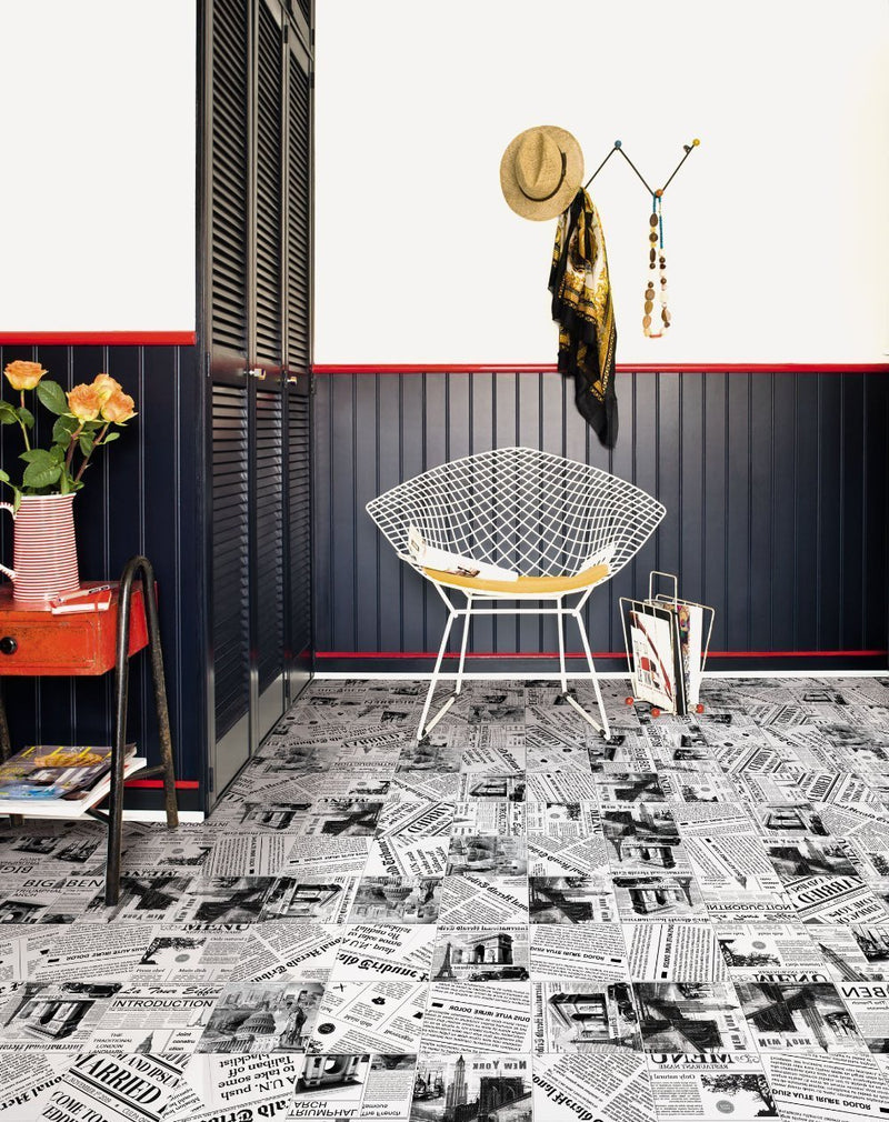 Newspaper Glazed Wall and Floor Tile