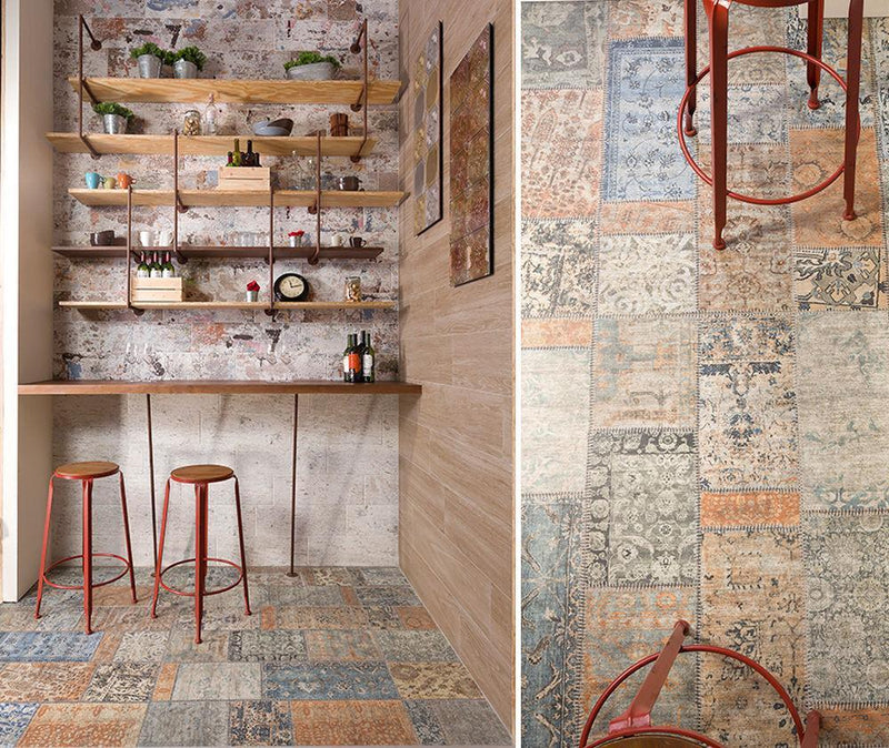 Multicolor Rug Wall and Floor Tile