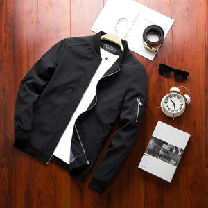 Spring New Men's Bomber Zipper Jacket