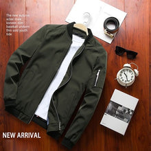 Load image into Gallery viewer, Spring New Men's Bomber Zipper Jacket