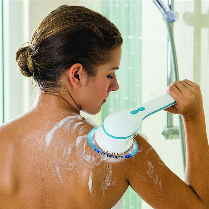 New Arrival Electric Spin Brush Long Handle Deep Clean Back Sole Bath Brush Set