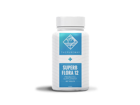 Superb Flora 12 Robust Probiotic Supplement (60 Capsules)